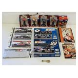 NASCAR Lot, 5 Ornaments, 2 SEALED Puzzles, etc