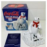 Ertl Coca Cola Polar Bear Metal Bank