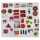 Lot of Coca Cola Refrigerator Magnets