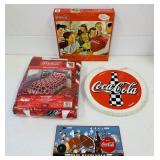 Coca Cola Sealed Twin Blanket, sealed Puzzle,