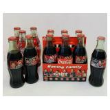 (9) 1996 Coca Cola Dale Earnhardt Glass Bottles,