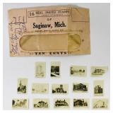 14 Saginaw, MI Photo Stamps