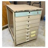 8 Drawer Cabinet w/wood Top, Very  Heavy