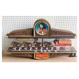 Budweiser Clydesdale w/Dalmatians Beer Sign