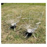 Matching  Rocker/Swivel Metal Outdoor  Chairs