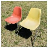 2 Fiberglass Chairs, Look like Herman Miller?