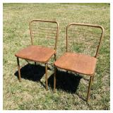 2 Matching/Folding Metal Chairs, nice!