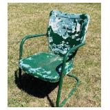 Vintage Outdoor Metal Chair, solid chair