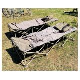2 Fold up Cots w/ bags 6