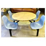 4 Person Table, Fiberglass Swivel Seats