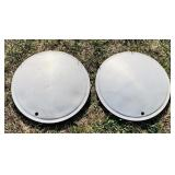 "2 Full Moon Hubcaps, 15""diameter"