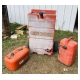 3 Portable Gas Tanks, Gas Dock 25 Gallon