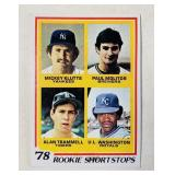 1978 Rookie Short Stops #707 Baseball Cards