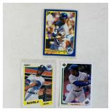 (3) Ken Griffey Jr Baseball Cards