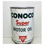 Conoco Super Motor Oil 1 Quart Oil Can