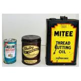 (3) Vintage Metal Cand, KMart Anifreeze FULL,