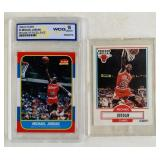 (2) Michael Jordan NBA Cards #4 and #26