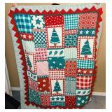 Handmade Christmas Quilt, 3