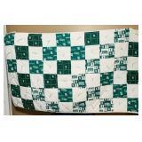 Michigan State Spartans quilt, 4