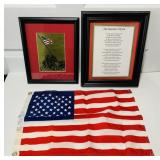 USMC Lot, Framed Picture, Marines Hymn