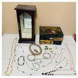 2 Jewelry Boxes and misc Jewelry