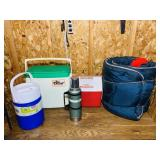 Stanley Thermos, 2 Coolers, Gallon Jug