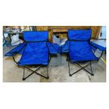 2 Shakespeare Folding Chairs w/ bags