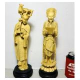 """(2)  A Santini Carved Figures, Italy, 14"""" high"""
