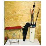 2 Quivers w/some Arrows, Plus Small Folding Seat
