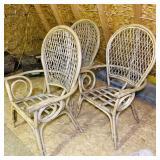 3 Bent Wood Highback Chairs