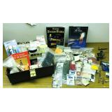 Lot of Fly making supplies and tackle box