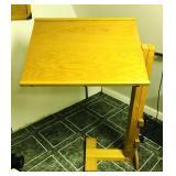 Oak drafting table, adjustable