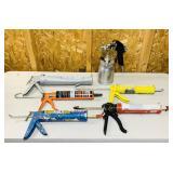 Craftsman Paint Gun, 5 Caulk Guns