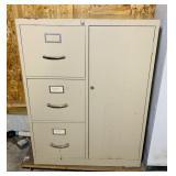 Metal File Cabinet, locked w/No Key