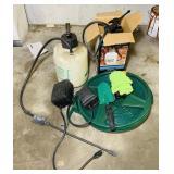 2 Pump Sprayers, 2 Hoses,2 timers etc