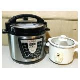 Pressure cooker and small crockpot