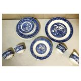 Willow Ware by Royal China set of six dinner