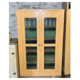 Old Jelly Cabinet, w/ some Ball Jars, Neat Looking