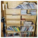 Lot of Books in Garage loft, Field and Stream,