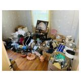 Contents of room full of items from around house,