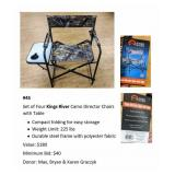 4 Kings Rivers Camo Director Chairs w/ Table