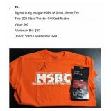 Signed Craig Morgan Shirt, 2 State Theater Certs