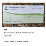Terminue Brake & Muffler Gift Certificate