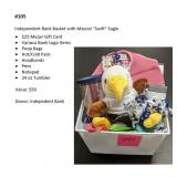 "Independent Bank Basket w/ Mascot ""Swift"" Eagle"