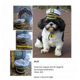 Small Size Captain Hat for Dog/Cat