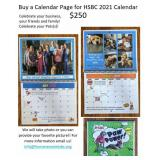 Calendar Page for HBSC 2021, Call or Email HSBC