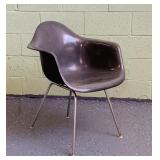 Herman Miller Elephant Gray Fiberglass Chair