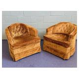 (2) Stripped Valour Comfortable Sitting Chairs,