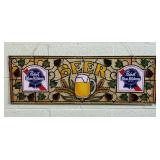 "1983 Pabst Blue Ribbon Beer Sign, 36"" x 12"""