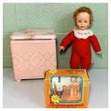 1965 Baby Secret, Sewing Machine, Clothes Hamper,